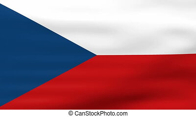 Waving Czech Republic Flag, ready for seamless loop
