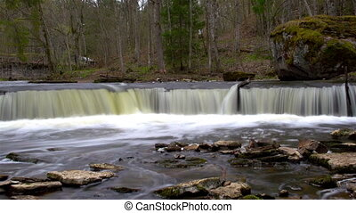 The fast motion of rushing water - The fast motion of the...