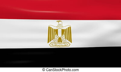 Waving Egypt Flag, ready for seamless loop.