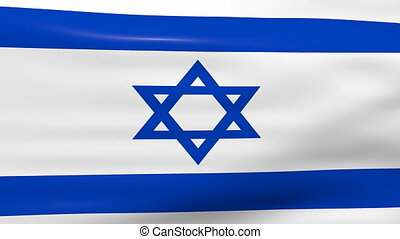Waving Israel Flag, ready for seamless loop.