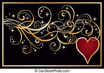 Heart poker banner, vector illustration