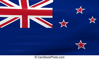 Waving New Zealand Flag, ready for seamless loop