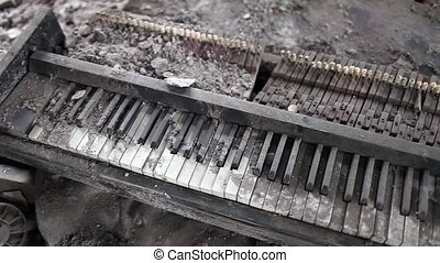 broken piano music of war