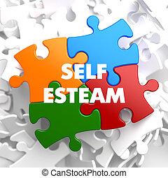Self Esteem on Multicolor Puzzle - Self Esteem on Multicolor...