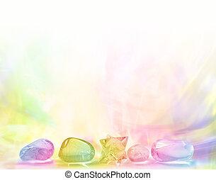 Chakra, curación, Cristales