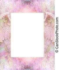 Angel Wings Message Board - Delicate intricate dusty pink...