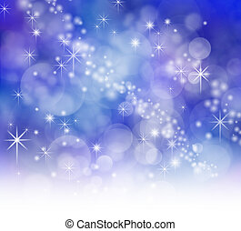 Starry Sparkly Bokeh backdrop - Starry night effect blue...