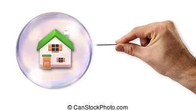 den, hus, bubbla, om, vara, exploited