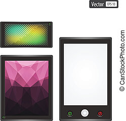Vector set of realistic electronic gadgets