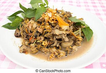 shellfish - shell stir fried with garlic