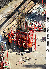 Construction Site - People working on Building Business...