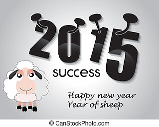 Happy new year 2015 year of sheep