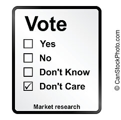 Market Research Vote Sign - Monochrome market research vote...
