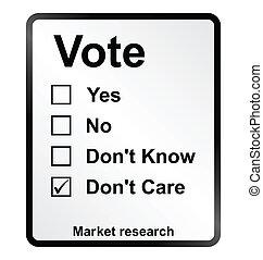 Market Research Vote Sign - Monochrome market research vote...