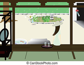 Japanese Summer Vacation - It is an illustration of Japanese...