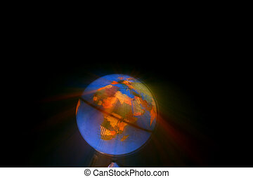Shining Globe - globe of the world with many countries
