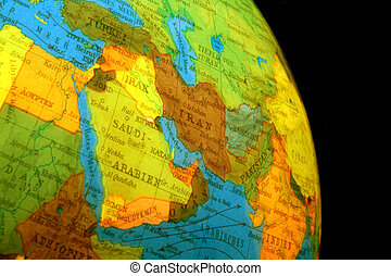 Globe - globe of the world with many countries