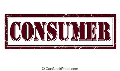 consumer stamp - consumer grunge stamp with on vector...