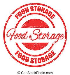 food storage stamp - food storage grunge stamp with on...