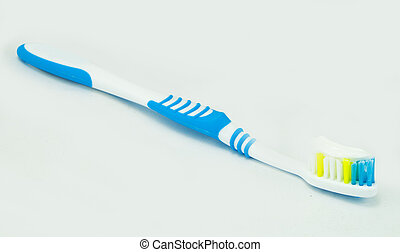 Toothbrush with toothpaste isolated