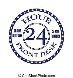 front desk stamp - front desk grunge stamp with on vector...