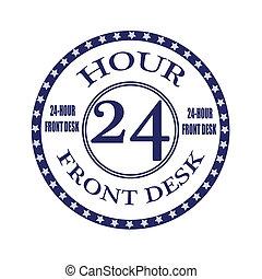 front desk stamp - front desk grunge stamp with on vector...