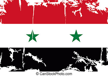 Syrian grunge flag Vector illustration Grunge effect can be...