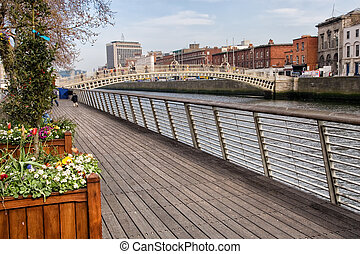 River Liffey Boardwalk in Dublin