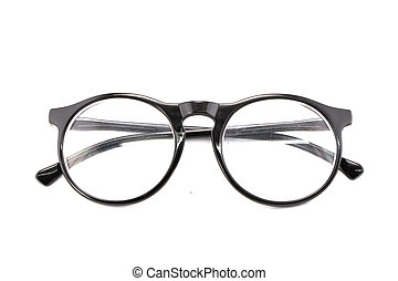 optical vintage glasses isolated