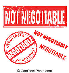 not negotiable , negotiable stamp - not negotiable,...