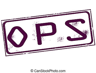 ops stamp - ops grunge stamp with on vector illustration