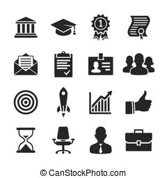 Business career icons set - Simplus series - Business career...