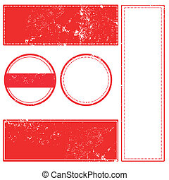 sey stamp - set grunge stamp with on vector illustration