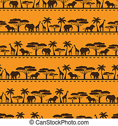 African ethnic seamless pattern in flat style