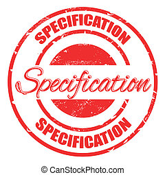 specification stamp - specification grunge stamp with on...
