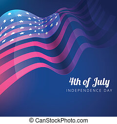 american flag 4th of july background - vector american flag...