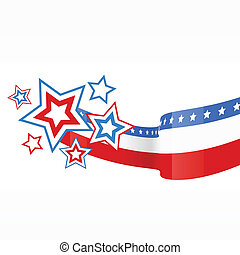 vector american flag design