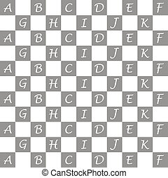 Seamless alphabet pattern