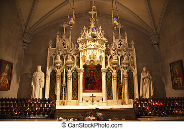 Mary Icon Shrine Saint Patricks Cathedral New York City -...