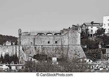 la spezia - castle san giorgio in the town of la spezia