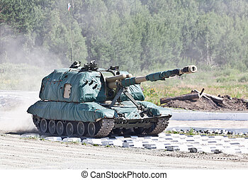 """Russian Self-propelled gun - Russian The 2S19 """"Msta-S"""" is a..."""