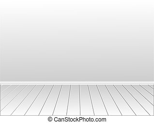 Nice room with a wall for your content. vector