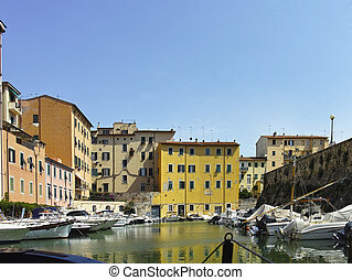 livorno a very beautiful town in italy