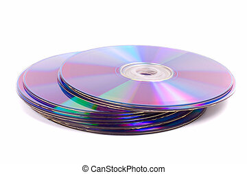 stack of DVD\'s