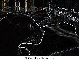 Black Panther Abstract