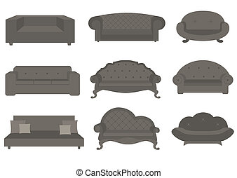 Sets of sofa, furniture for an interior
