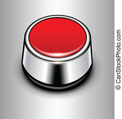 Background with alarm button - Background with red alarm...