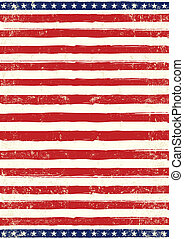 American grungy Flag - An american background for your...