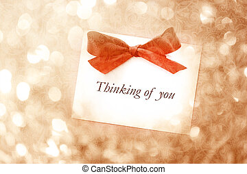 Thinking of you message with abstract light background -...