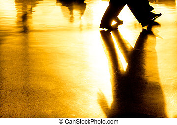 Abstract shadows and silhouettes background - Abstract...